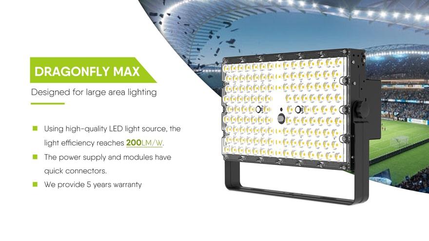 200W Dragonfly LED High Mast Light 200lm/w