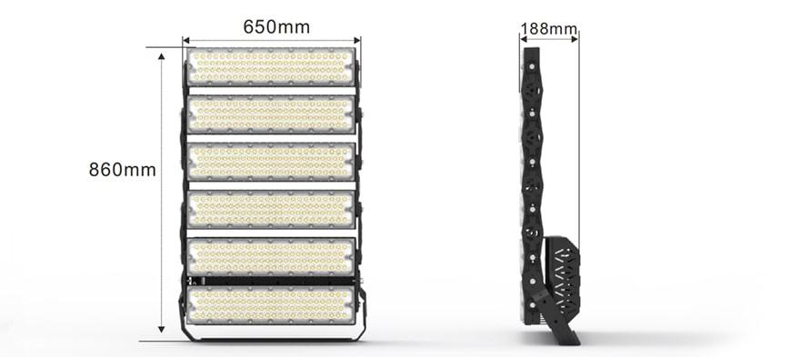 1440W Slim ProX LED High Mast Light size