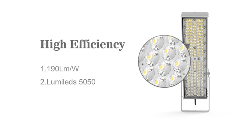 Sports Field Lights 240W 300W Pole Mount LED Flood Light , Outdoor Floodlight | 40,800 lm