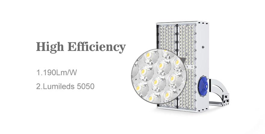 400W 480W 600W Module Flood LED Light high efficient 190lm/w