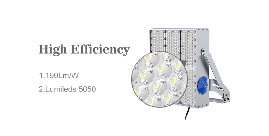 600W 720W 900W LED High Pole Light high efficiency 190lm/w