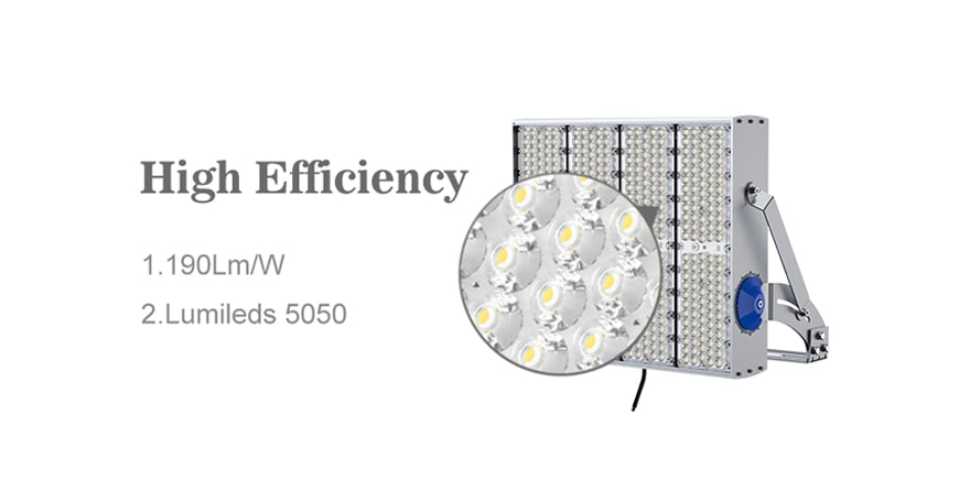 high efficiency 190lm/w led flood light