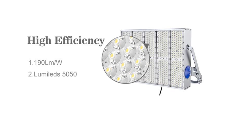 led high pole light high efficiency 190lm/w