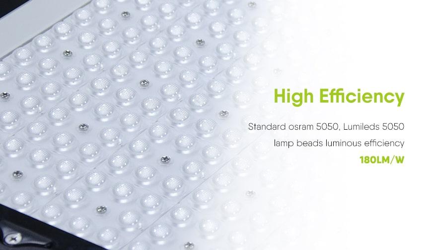 High-efficiency ultra led stadium flood light using osram 5050