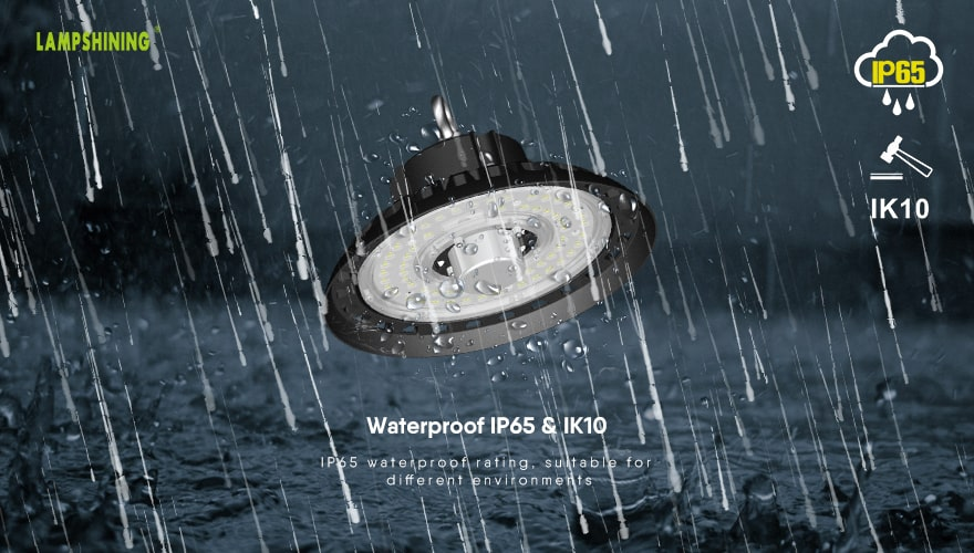 200W Intergrated Sensor UFO LED High Bay Light waterproof ip65 and ik10