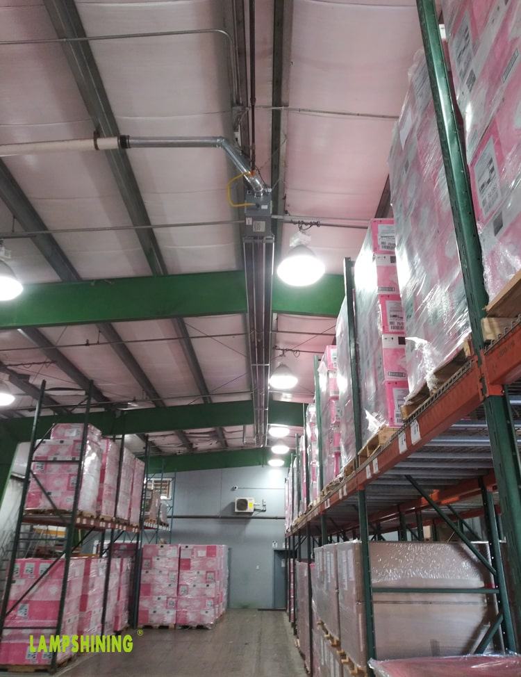 E26 120w LED Corn Light installed in high bay light for warehouse