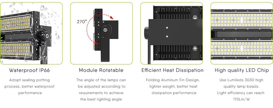 100 Watt LED Area Light features