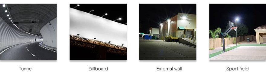 Four lighting application sites