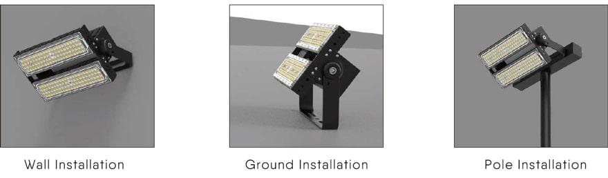 slim proe led flood light wall,ground,pole installation