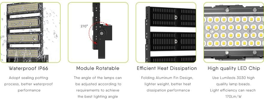 240W LED flood Light features