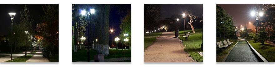 Plus LED Post Top Light application