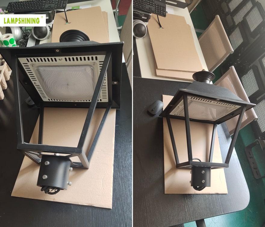 pro led post top light