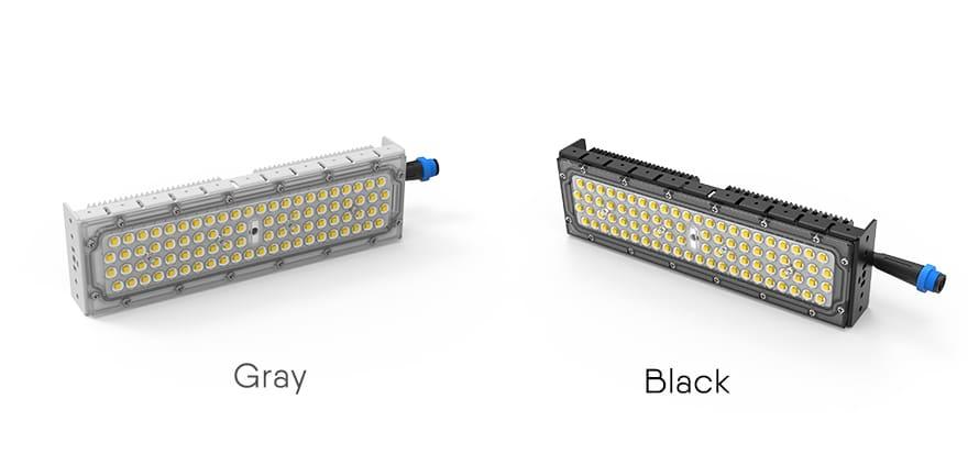 optional gray and black