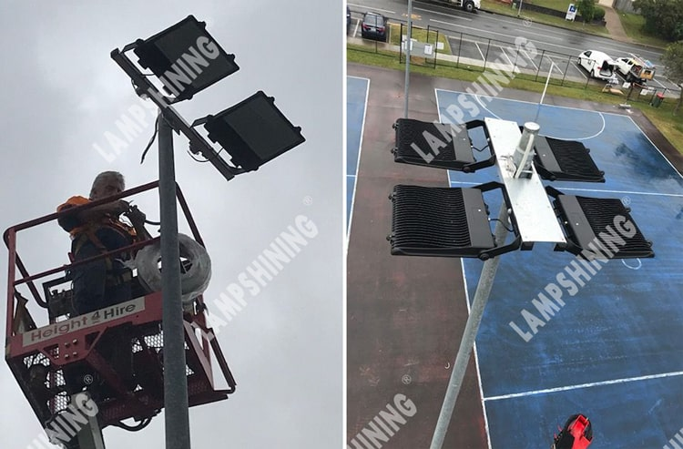 nemo 300w led flood light for netball courts lighting project