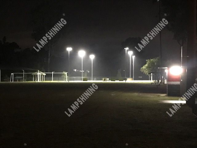 lit up netball courts