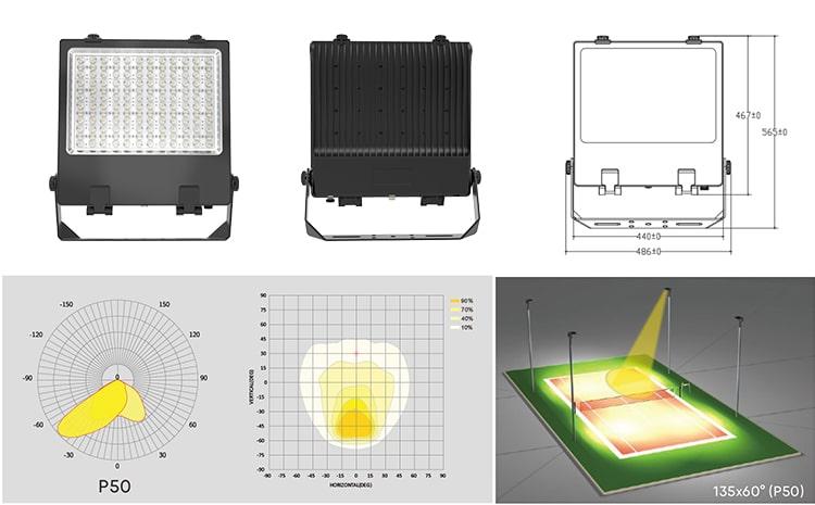 P50 beam angle 300w led flood lights fixtures