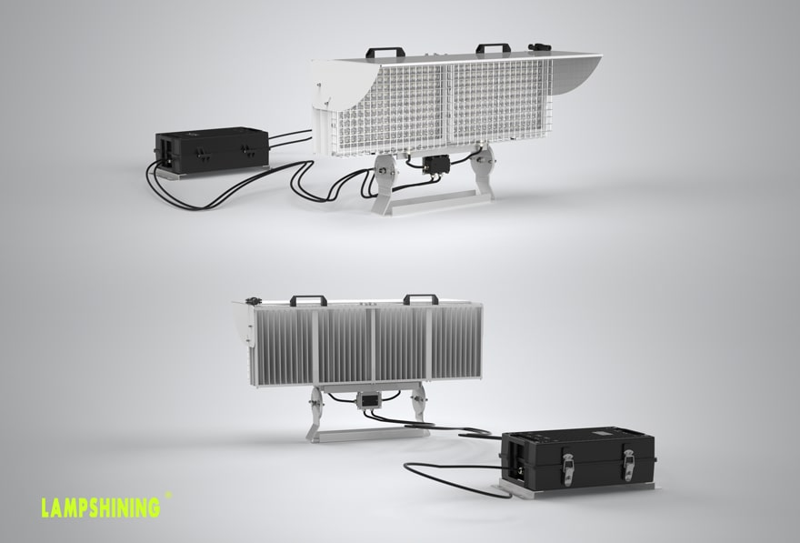 Alpha 1200W LED Stadium Light Front and back show