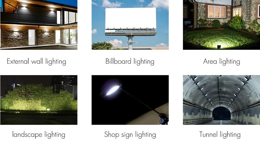 Nemo EKO 100W LED Flood light can be applied to External wall, Bilboard, Area, landscape, Shop sign, Tunnel lighting