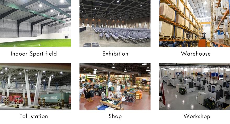 Intergrated Sensor 200W UFO LED High Bay Light for indoor sport field, Exhibition,Warehouses,Toll station, shop, workshop etc