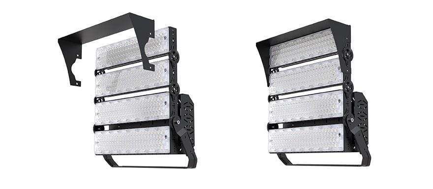 900W 960W slim pro led high mast light with Anti glare Cover