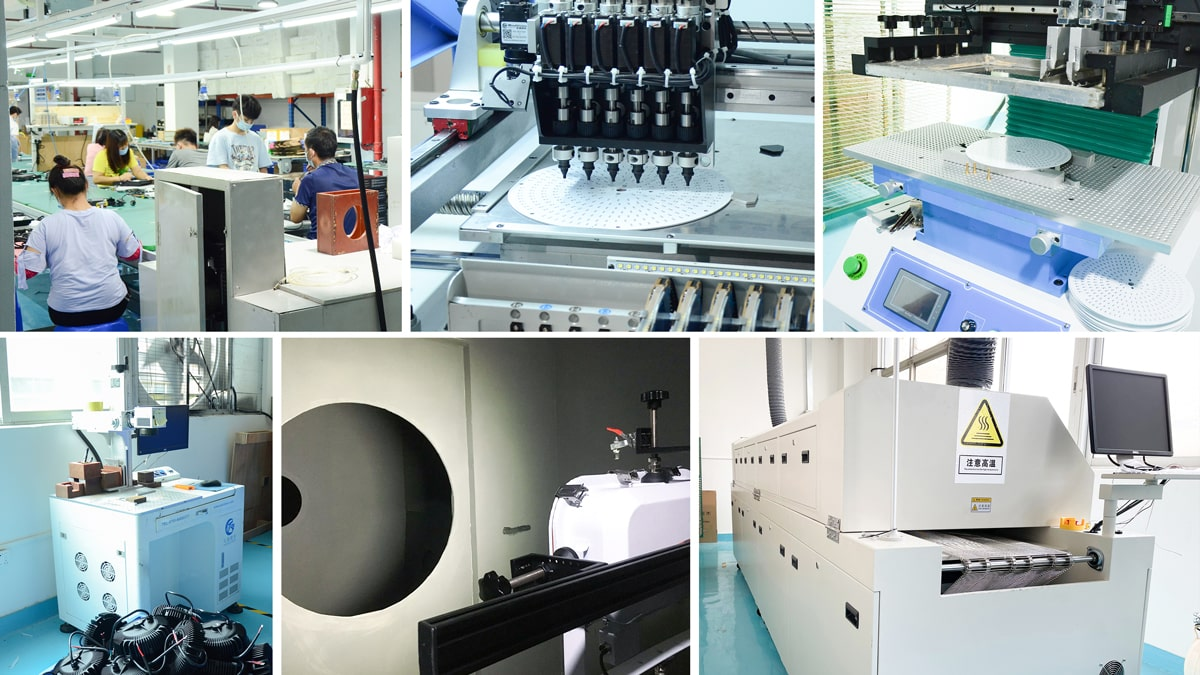 Lamp Shining Manufacturing Co.,Ltd workshop and equipment