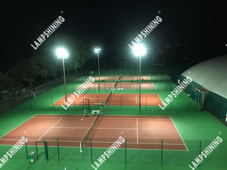 Case of 200W 40 60 degree NEMO LED Flood Light for France Outdoor Tennis Court