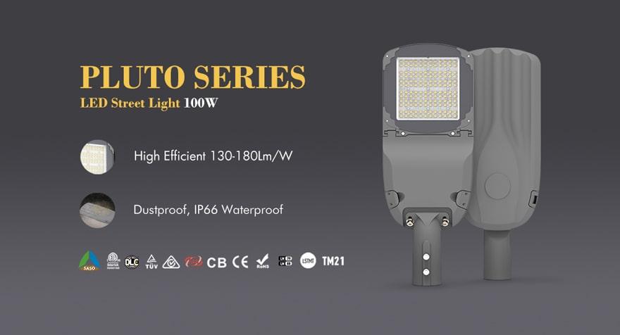 pluto series 100w led street Lighting