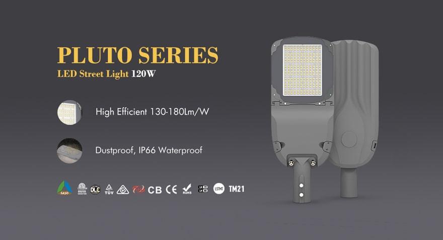pluto series 120w led street light
