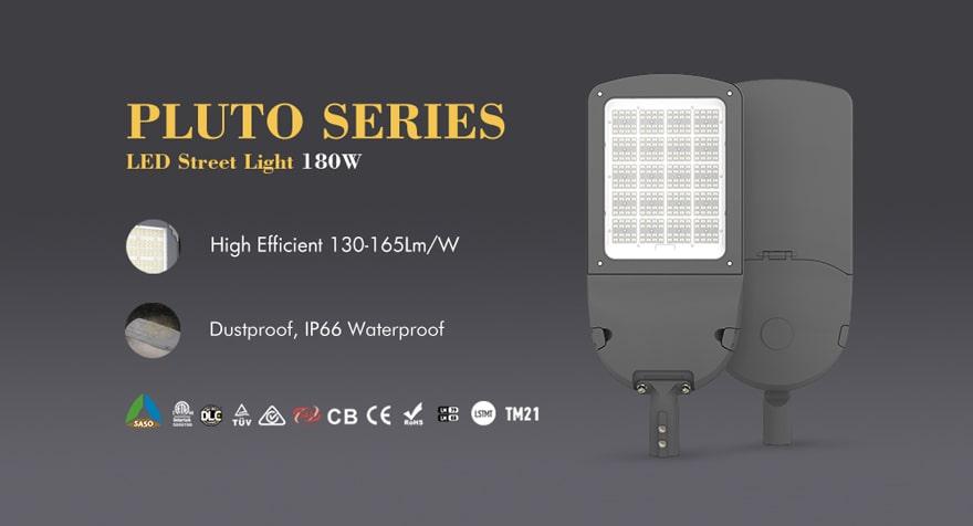 pluto series 180w led street light
