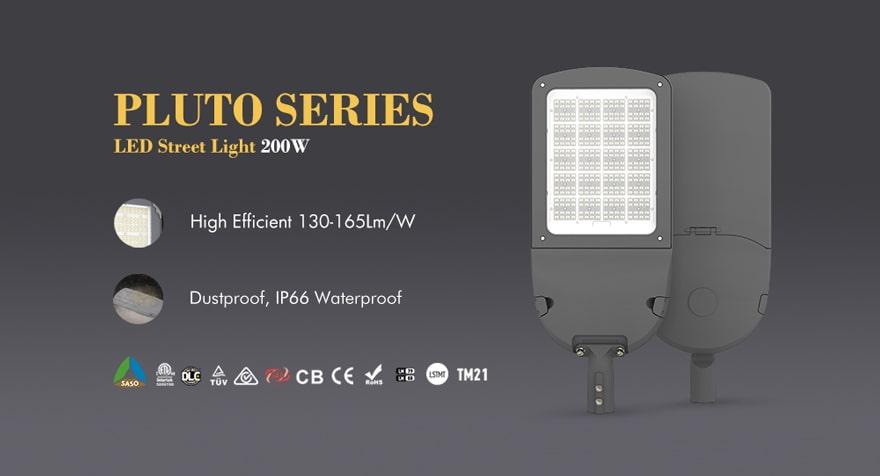 pluto 200w led street light