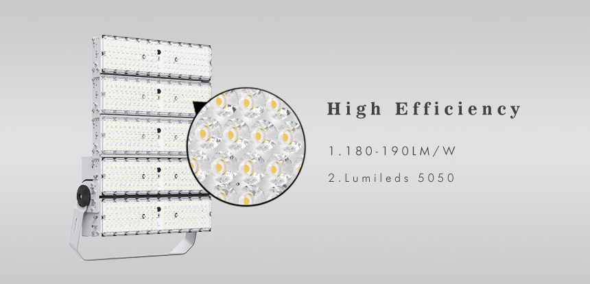 1000w 190lm/w Lumens led Large Area Lighting