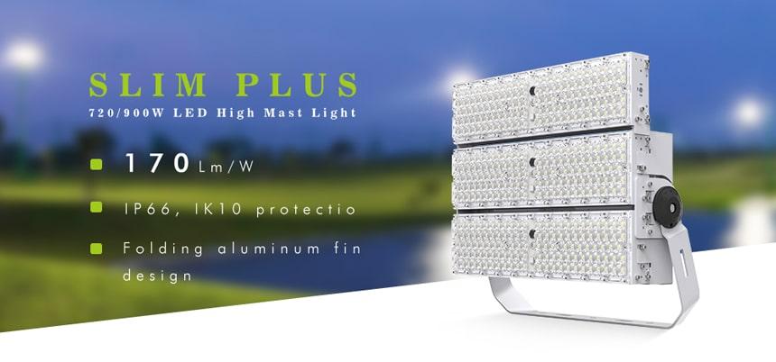 720W 900W LED High Mast Light