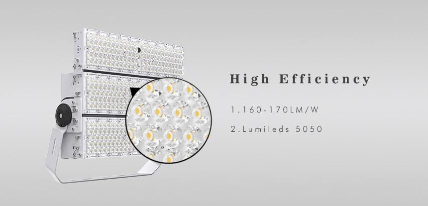 720W 900W high efficiency 170lpw LED High Mast Light