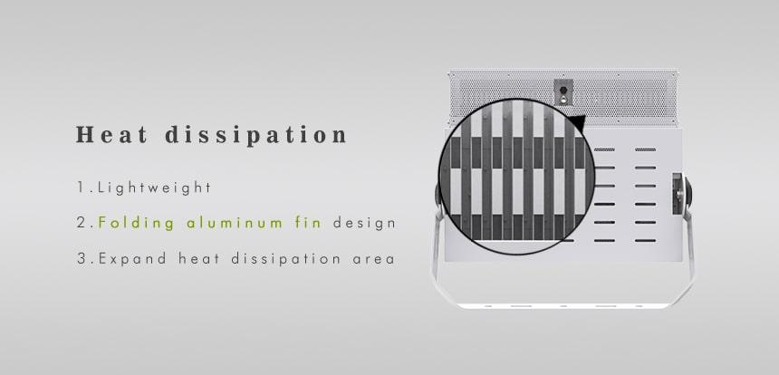 720W 900W folding aluminum fin design LED High Mast Light