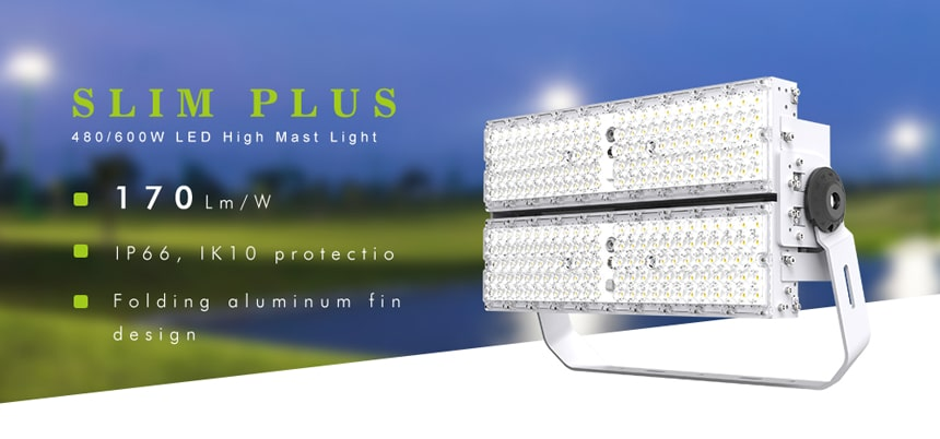 480w 600w pole mount led lighting fixtures