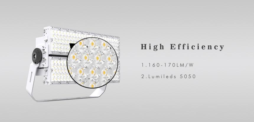 160-170lpw slim plus 480w 600w led high pole light