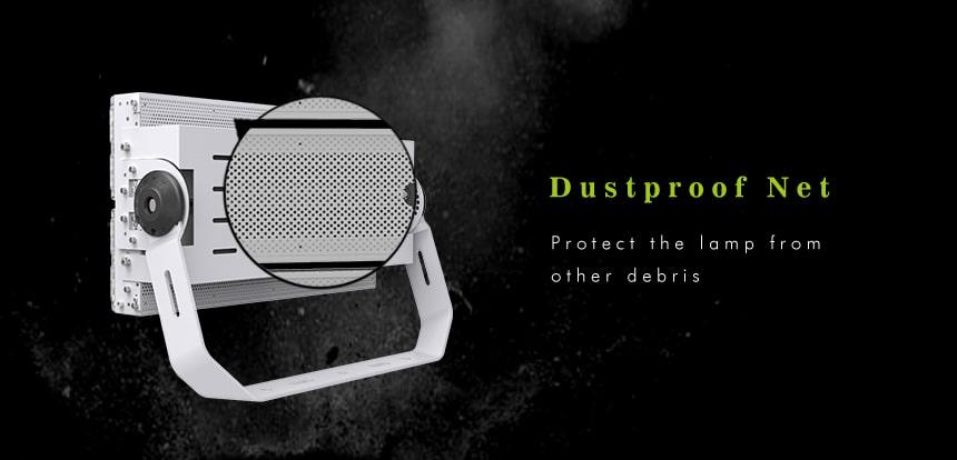 480w 600w led high pole light with dustproof net