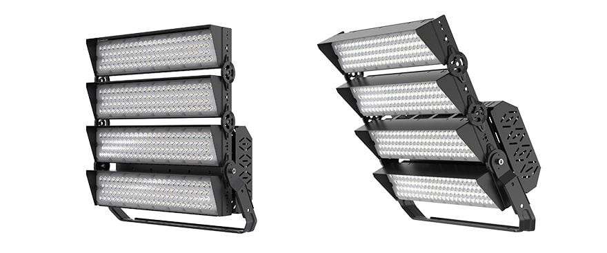 800W 960W slim pro led high mast light with Anti glare Cover