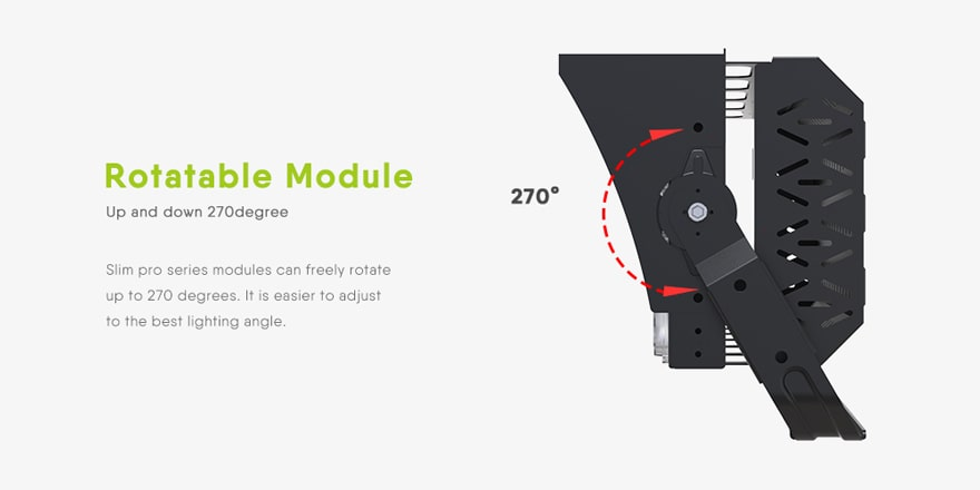 400w 480w slim pro led high mast light module rotatable 270 degree