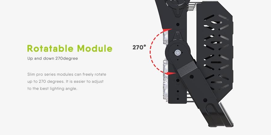 600W 720W LED Stadium Light module rotatable 270 degree