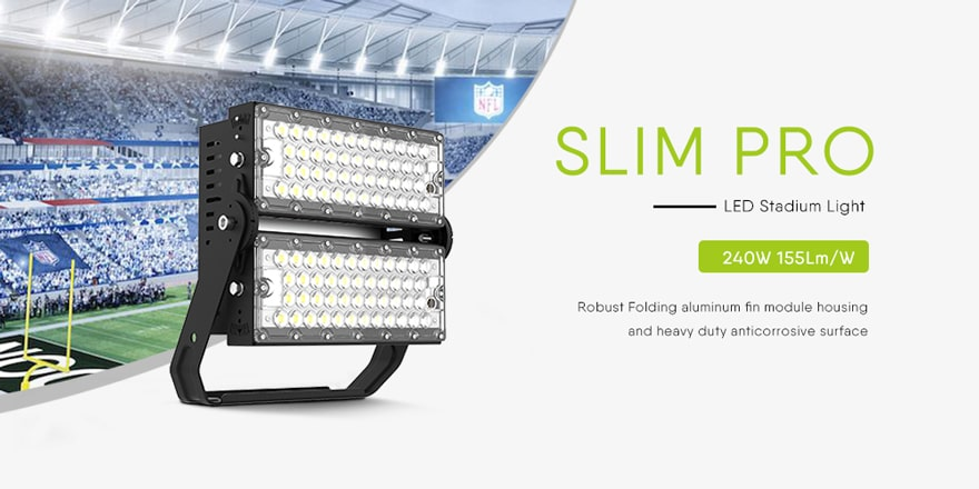 240W Slim Pro led flood light fixtures
