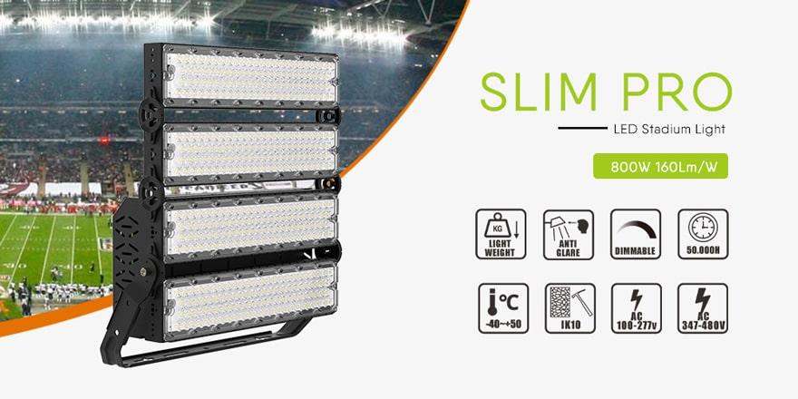 slim pro 800w 960w led high mast light