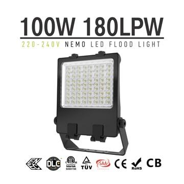 100w LED Flood Light, 240v Stadium Lightweight Pole Light, 5 years warranty