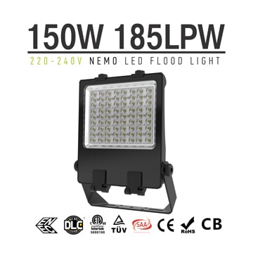 150 Watt LED Flood Light CE RoHS 240V Outdoor yoke bracket Flood Pole Light
