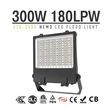 300W LED Flood Light 5700K High Lumen Outdoor IP66 equivalent 600W Metal Halides