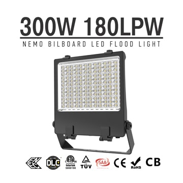 300W LED Billboard Light, Adjustable Mounting Bracket Outdoor Sign LED Lighting Fixtures