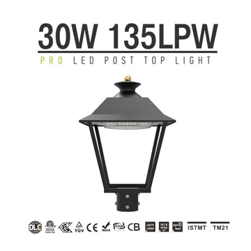LED Courtyard Lamp 30W, Commercial Aluminum Small Landscape Area Lights, Garden Lawn Lights fixtures