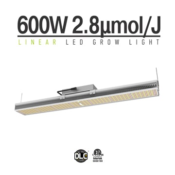 Linear 600W LED grow light full spectrum - dimmable 0-10v LED plant growth light, suitable for indoor plants, vegetables, hemp, etc.