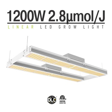 1200 Watt Linear LED Grow Light - Full spectrum Plant Lighting for cannabis, veg and flower