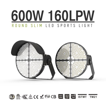 LED Sports Light 600W, Stadium Sports Lighting Fixtures, 96,000Lumens, TUV, SAA, ROHS